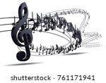 music background design.musical ... | Shutterstock . vector #761171941