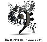 music background design.musical ... | Shutterstock . vector #761171959