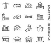 thin line icon set   lighthouse ... | Shutterstock .eps vector #761188405