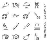 thin line icon set   chicken... | Shutterstock .eps vector #761189047