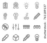 thin line icon set   report ... | Shutterstock .eps vector #761189137