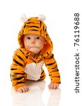 Six Month Baby Wearing Tiger...