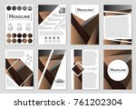 abstract vector layout... | Shutterstock .eps vector #761202304