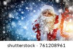 santa claus and magic night  | Shutterstock . vector #761208961