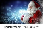 santa claus and magic night  | Shutterstock . vector #761208979
