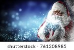 santa claus and magic night  | Shutterstock . vector #761208985