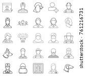character icons set. outline... | Shutterstock .eps vector #761216731