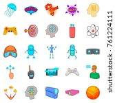 simulation icons set. cartoon... | Shutterstock .eps vector #761224111