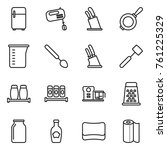thin line icon set   fridge ... | Shutterstock .eps vector #761225329