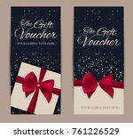 gift voucher template vector... | Shutterstock .eps vector #761226529