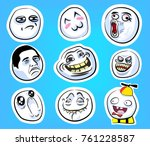 set with internet memes on the... | Shutterstock .eps vector #761228587