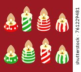 chrismas candle  colorful... | Shutterstock .eps vector #761229481