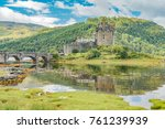 eilan donan castle in the... | Shutterstock . vector #761239939