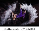 a young  slender girl in a... | Shutterstock . vector #761247061