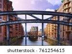 old warehouse district... | Shutterstock . vector #761254615