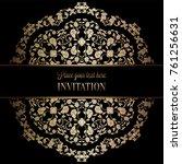 vintage baroque wedding... | Shutterstock .eps vector #761256631