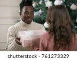 african american man gives a...   Shutterstock . vector #761273329