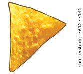 cheese nacho chip | Shutterstock .eps vector #761277145