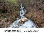 landscape  beautiful waterfall... | Shutterstock . vector #761282014