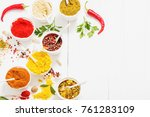 spices on white background | Shutterstock . vector #761283109