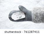 wool glove  label  snow  quote... | Shutterstock . vector #761287411