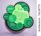 abstract green design web site | Shutterstock .eps vector #76128775