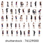 """collection """"the back of young...   Shutterstock . vector #76129000"""