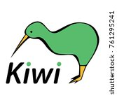 stylized kiwi bird  | Shutterstock .eps vector #761295241