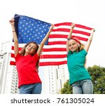 we love our country   usa | Shutterstock . vector #761305024