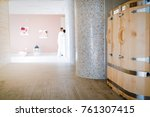 cedar barrel sauna new form of... | Shutterstock . vector #761307415