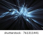 fractal art   computer image ... | Shutterstock . vector #761311441