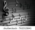 3d illustration of musical... | Shutterstock . vector #761313841