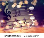 3d Illustration Of Musical...