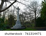 at the entrance of the cemetery  | Shutterstock . vector #761314471