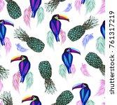 colored abstract toucan  birds  ...   Shutterstock .eps vector #761317219
