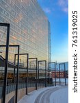 modern skyscraper with glass... | Shutterstock . vector #761319025