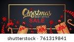 christmas sale banner template... | Shutterstock .eps vector #761319841