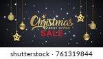 christmas sale banner template...   Shutterstock .eps vector #761319844