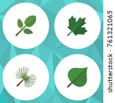 flat icon nature set of oaken ... | Shutterstock .eps vector #761321065