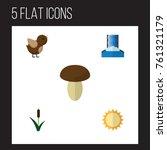 flat icon natural set of bird ... | Shutterstock .eps vector #761321179