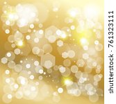 abstract bokeh lights gold... | Shutterstock .eps vector #761323111