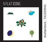 flat icon nature set of tree ... | Shutterstock .eps vector #761323441