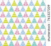 vector seamless pattern with... | Shutterstock .eps vector #761327209