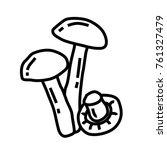 vector outline mushrooms icon | Shutterstock .eps vector #761327479