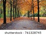 autumn park tiergarten in berlin | Shutterstock . vector #761328745