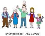eps 10  big happy family | Shutterstock .eps vector #76132909