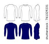 rash guard shirts tamplate... | Shutterstock .eps vector #761329231