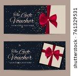 gift voucher template vector...   Shutterstock .eps vector #761329531