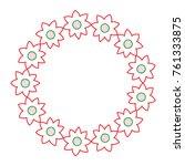 decorative wreath flower... | Shutterstock .eps vector #761333875