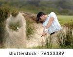 Golfer Hitting A Bunker Shot
